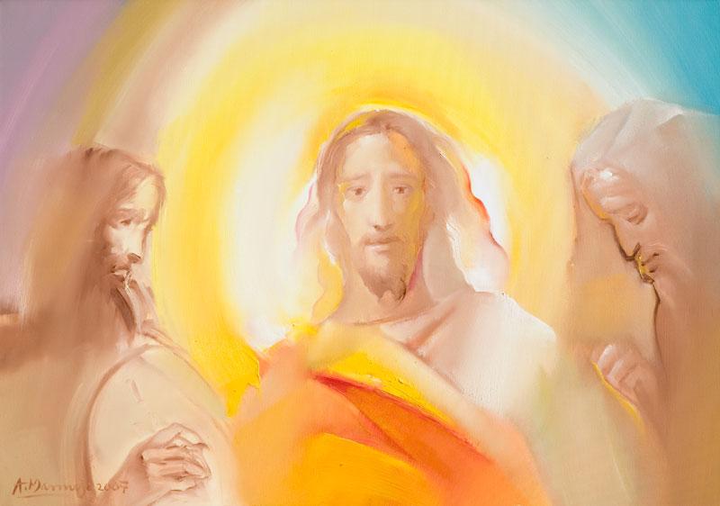 """Uze Isus sa sobom Petra, Jakova i Ivana"""